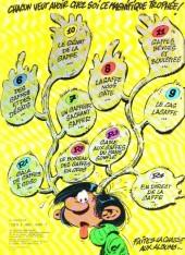 Verso de Gaston -12a1975- Le Gang des gaffeurs