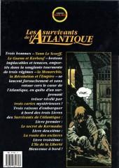 Verso de Les survivants de l'Atlantique -1a- Le secret de Kermadec