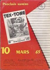 Verso de Tex-Tone -188- Cow boy en danger