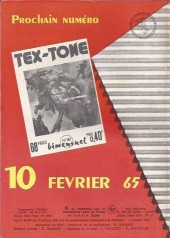 Verso de Tex-Tone -186- Un collier pour betty