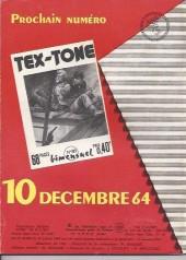 Verso de Tex-Tone -182- Le chariot mystérieux