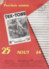 Verso de Tex-Tone -175- Les cavaliers de boot-hill