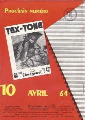 Verso de Tex-Tone -166- Faire justice
