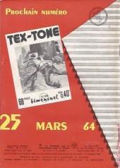 Verso de Tex-Tone -165- Celui qui a peur...