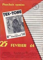 Verso de Tex-Tone -163- Le fils du juge