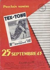 Verso de Tex-Tone -153- Les éperons d'argent