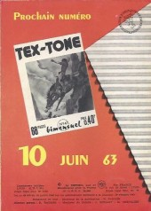 Verso de Tex-Tone -146- La machine du tonnerre