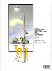 Verso de XIII -6b2000- Le dossier Jason Fly