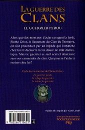 Verso de La guerre des clans -1- Le guerrier perdu