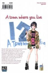 Verso de A town where you live -12- Tome 12