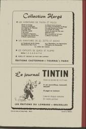 Verso de (Recueil) Tintin (Album du journal - Édition belge) -37- Tome 37