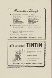 Verso de (Recueil) Tintin (Album du journal - Édition belge) -41- Tome 41