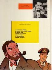 Verso de Blake et Mortimer (Les aventures de) (Historique) -6e1970- L'Énigme de l'Atlantide
