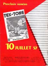 Verso de Tex-Tone -4- Le bétail disparu