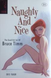 Verso de (AUT) Timm, Bruce (en anglais) -2012- Naughty and Nice: The Good Girl Art of Bruce Timm Teaser
