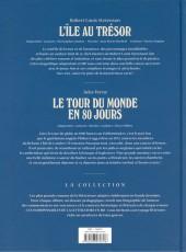 Verso de Les indispensables de la Littérature en BD -FL01- L'île au trésor / Le tour du monde en 80 jours