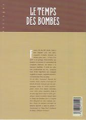 Verso de Le temps des bombes - Tome INT