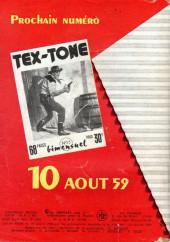 Verso de Tex-Tone -54- Tex-tone et le piège