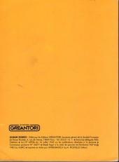 Verso de Zorro Géant (Greantori) -REC05- L'Album N°5 : Le témoin
