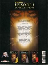 Verso de Star Wars - Albums BD -Photo -1- Épisode I - La menace fantôme