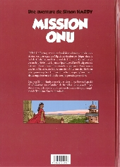 Verso de Simon Hardy (Une aventure de) -1- Mission ONU