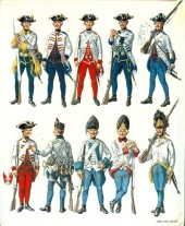 Verso de (AUT) Funcken -U3 2- L'uniforme et les armes des soldats de la guerre en dentelle (2)