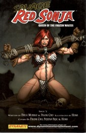 Verso de Savage Red Sonja: Queen of the Frozen Wastes (2006) -1- Issue 1
