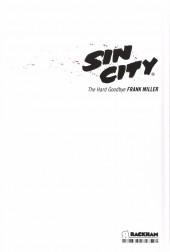 Verso de Sin City -1d13- The Hard Goodbye