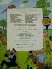 Verso de Tintin (Historique) -18B31- L'affaire Tournesol