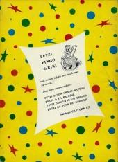 Verso de Petzi (Première série) -4- Petzi au pays du sommeil