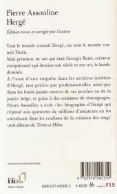 Verso de (AUT) Hergé -17b- Hergé