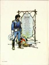 Verso de Blueberry -15a82- Ballade pour un cercueil