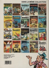Verso de Sammy -4a1986- Les gorilles marquent des poings et Gorilles et spaghetti