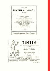 Verso de (Recueil) Tintin (Album du journal - Édition belge) -1- Tome 1