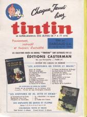 Verso de (Recueil) Tintin (Album du journal - Édition française) -62- Album du journal