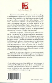 Verso de (DOC) Études et essais divers - Tintin et Spirou contre les négriers - La BD franco-belge : une littérature antiesclavagiste ?