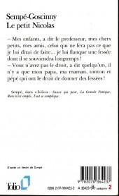 Verso de Le petit Nicolas - Tome 1Poch4