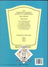 Verso de Bob et Bobette (Collection classique bleue) -4a- Le Trésor de Beersel
