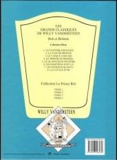 Verso de Bob et Bobette (Collection classique bleue) -7a- Les Masques Blancs