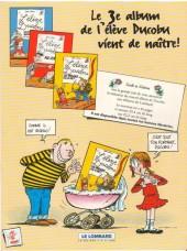 Verso de L'Élève Ducobu -PUB- Zéro