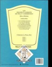 Verso de Bob et Bobette (Collection classique bleue) -1a- Le Fantôme Espagnol