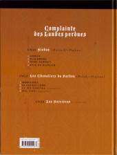 Verso de Complainte des Landes perdues -5b- Moriganes