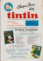 Verso de (Recueil) Tintin (Album du journal - Édition française) -63- Tintin album du journal (n°829 à 841)