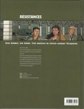 Verso de Résistances -4- Le prix du sang et des larmes