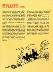 Verso de Les avatars de la province de Namur - 1830-1996