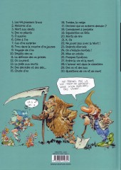 Verso de Pierre Tombal -30- Questions de vie et de mort