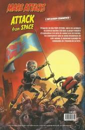 Verso de Mars attacks - Attack from space