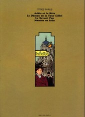 Verso de Adèle Blanc-Sec (Les Aventures Extraordinaires d') -2a78- Le Démon de la Tour Eiffel