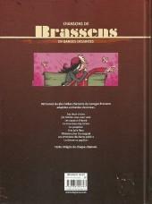 Verso de Chansons en Bandes Dessinées  -a- Chansons de Brassens en bandes dessinées