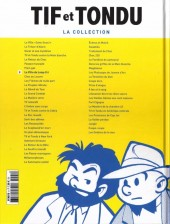Verso de Tif et Tondu - La collection (Hachette)  -8- La Villa du Long-Cri